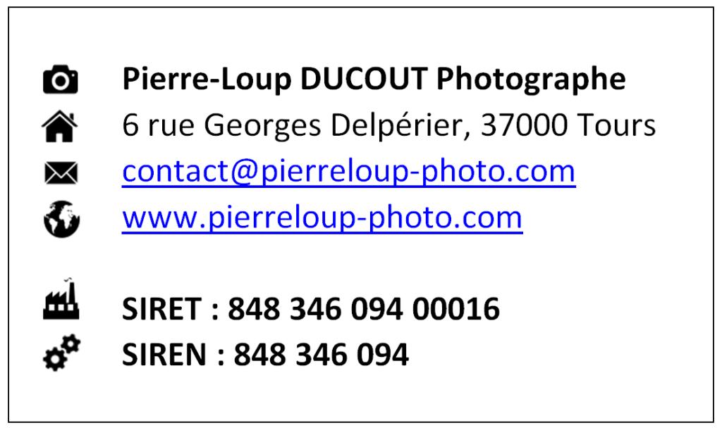 Mentions légales de Pierre-Loup Ducout Photographe
