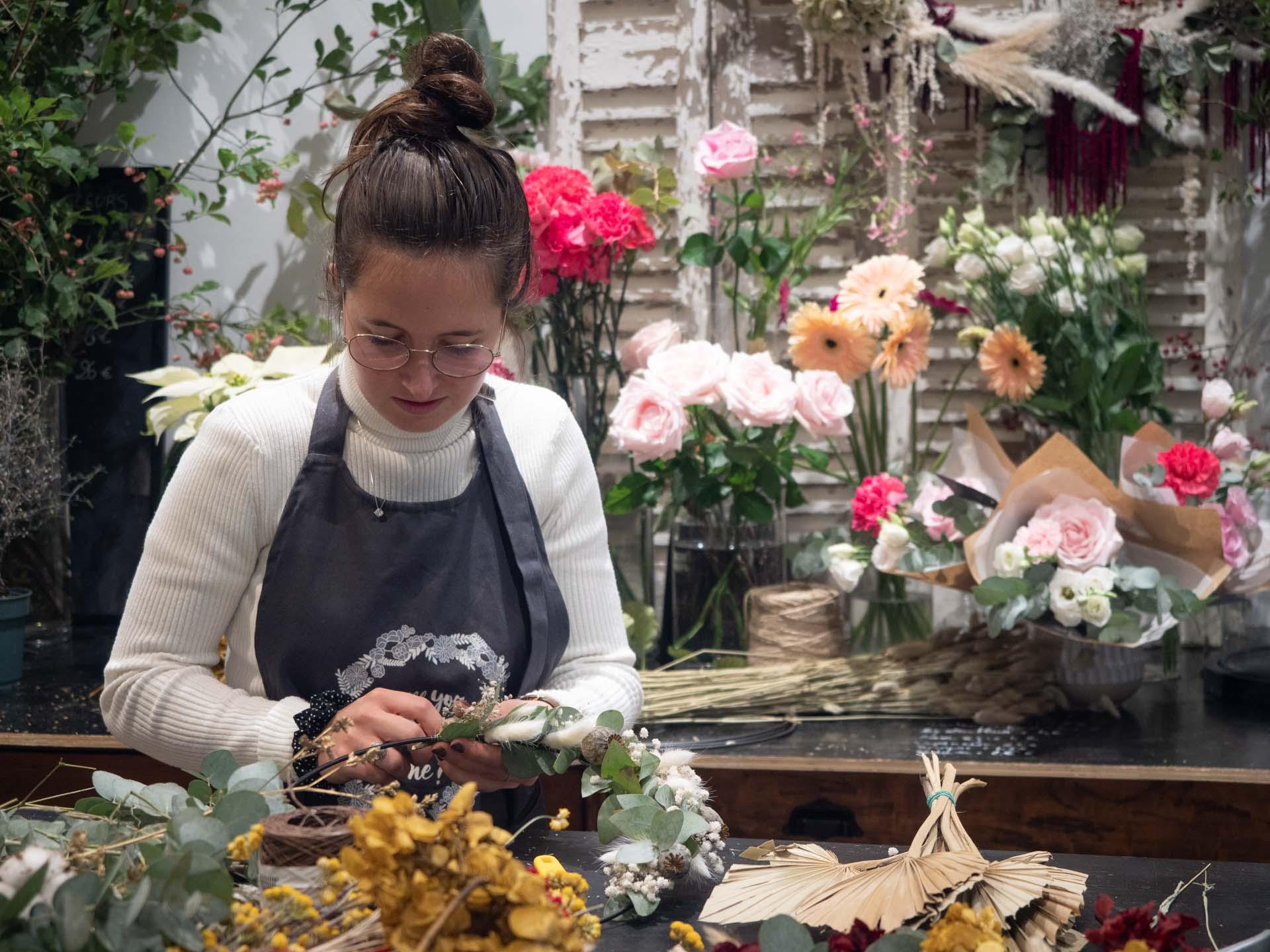 """Reportage métier - Atelier de création florale chez """"Will You Marine Me?"""""""
